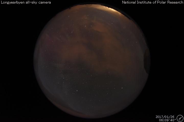 Northern Lights sky camera Svalbard
